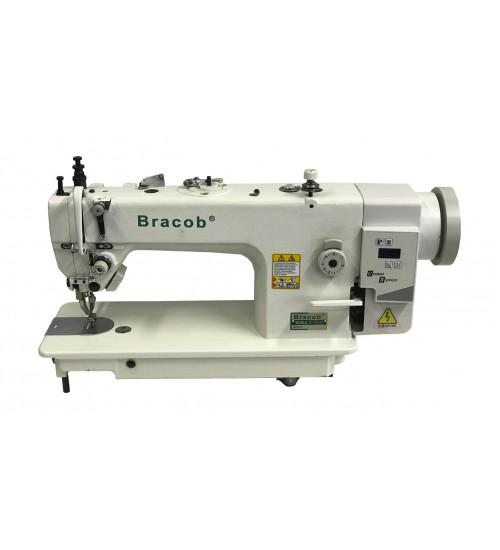 Máquina de costura industrial reta com transporte duplo (dente e calcador) direct drive BC 0302 AT