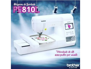 Maquina De Bordar Brother Pe810l Bivolt